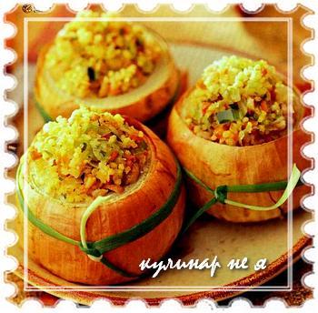 фаршированный лук рецепт с фото