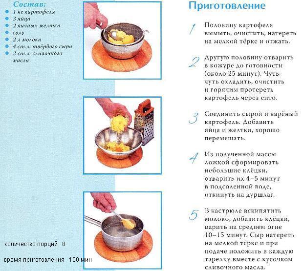 суп молочный с клецками требования к качеству