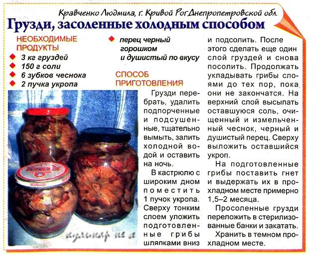 Как солить грузди в домашних условиях рецепт