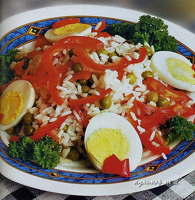 Салат с красным перцем фото