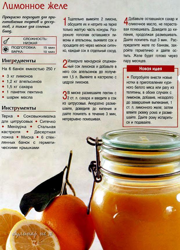 Рецепты лимонников 102