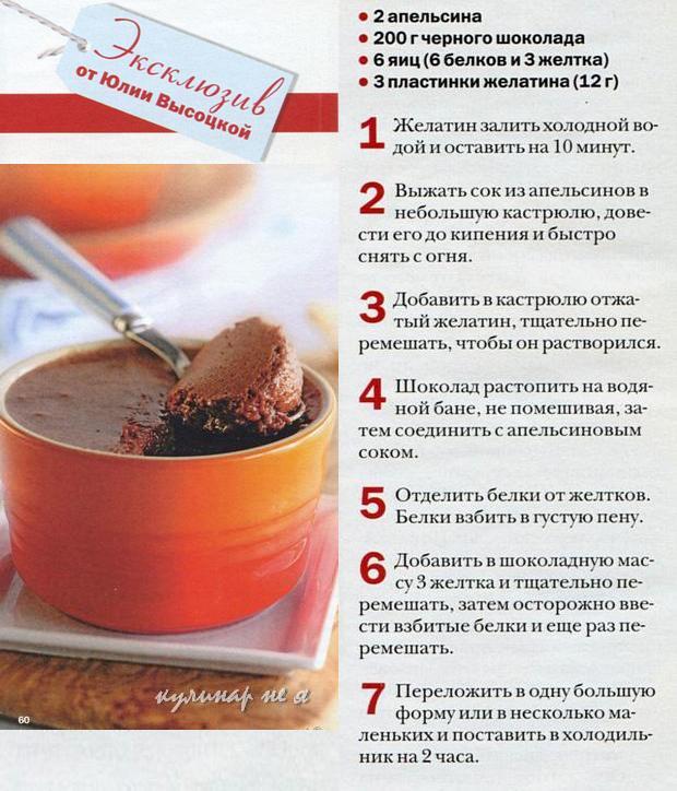 эксклюзивные рецепты от Высоцкой