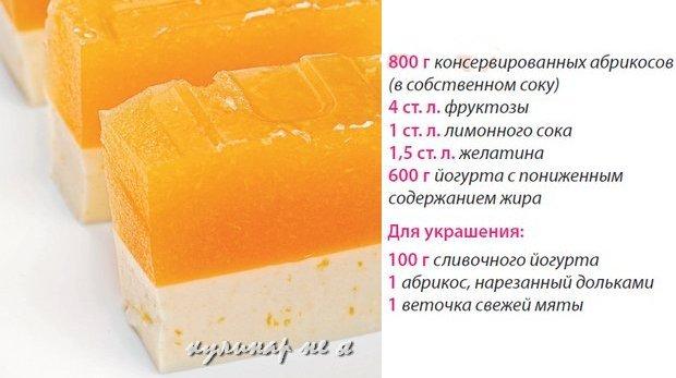 Рецепт абрикос желатин