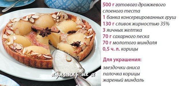 Рецепт пирога от селезнева