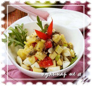Рецепт оливье с яблоками