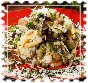 рецепт оливье с сыром