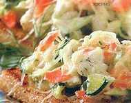 рецепт гренок с овощами и сыром